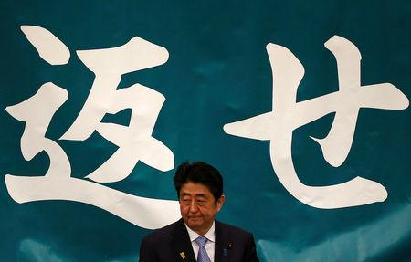 Japan's Abe hopes promises on jobs, defense will temper Trump's tone on trade