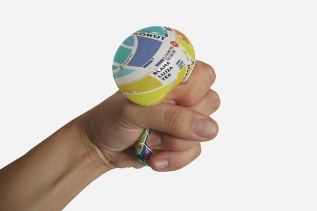 coolest map ever is a squeezable ball instead of paper