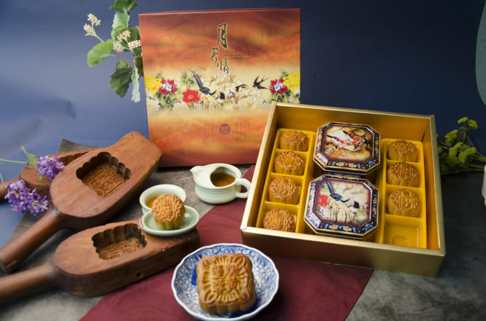Sheng Kee Bakery's mooncakes are pressed with the flavor of each pastry on the top. (Courtesy June Lin)