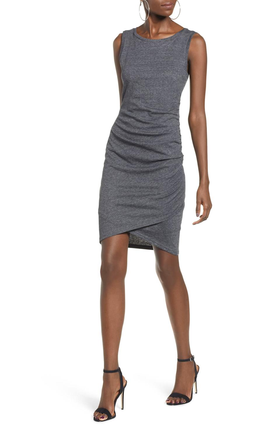 Save 30% on the Ruched Body-Con Tank Dress. Image via Nordstrom.