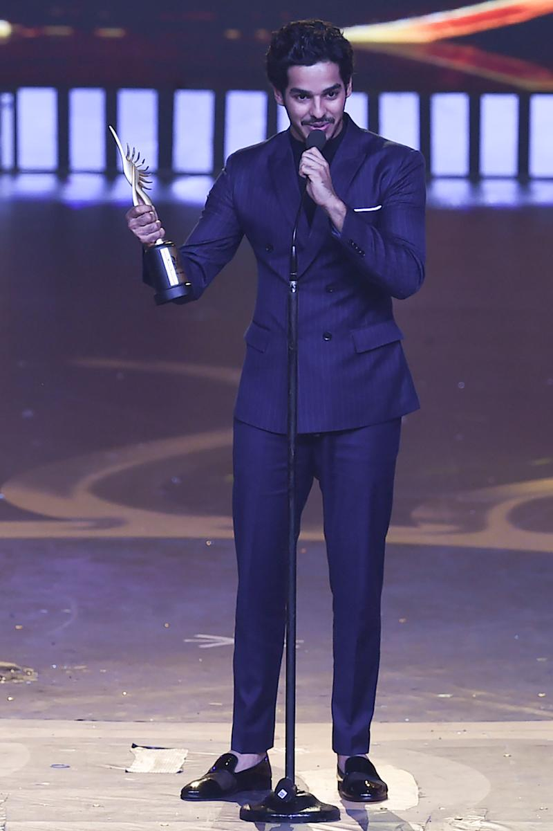 Ishan Khattar won Best Debutant Actor - Male award. (Photo: INDRANIL MUKHERJEE via Getty Images)