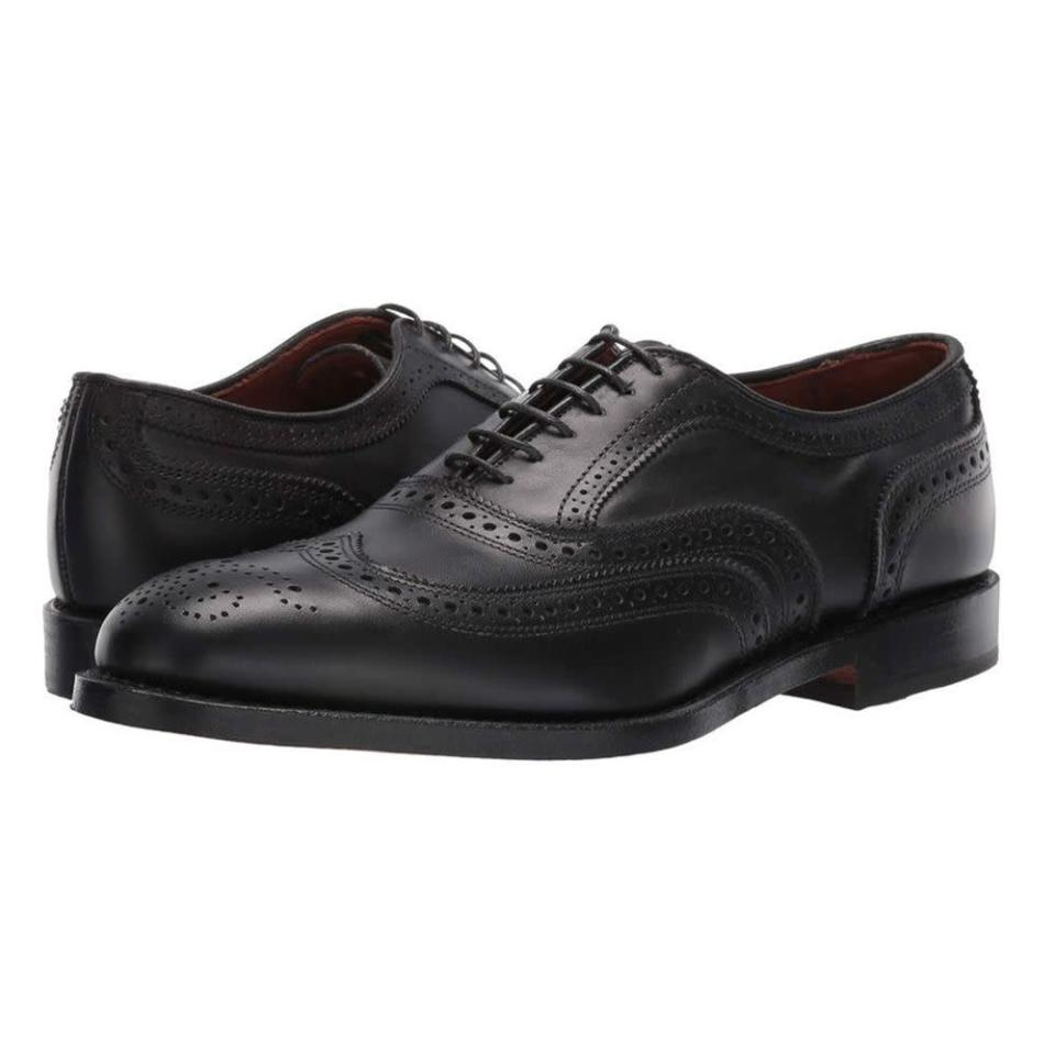 """<p><strong>Allen Edmonds</strong></p><p>zappos.com</p><p><strong>$394.95</strong></p><p><a href=""""https://go.redirectingat.com?id=74968X1596630&url=https%3A%2F%2Fwww.zappos.com%2Fp%2Fallen-edmonds-mcallister%2Fproduct%2F7559070&sref=https%3A%2F%2Fwww.menshealth.com%2Fstyle%2Fg19545927%2Fbest-dress-shoes%2F"""" rel=""""nofollow noopener"""" target=""""_blank"""" data-ylk=""""slk:BUY IT HERE"""" class=""""link rapid-noclick-resp"""">BUY IT HERE</a></p><p>You can never go wrong with any Allen Edmond shoe, but this wingtip oxford is especially solid. It is a timeless shape that will last you years. </p>"""