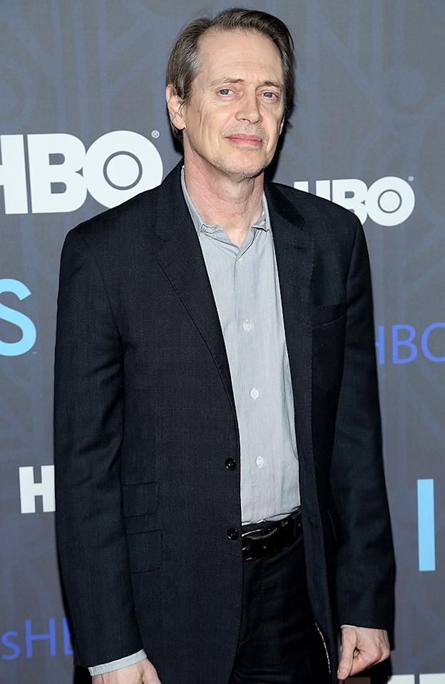 "NEW YORK, NY - JANUARY 09:  Steve Buscemi attends the HBO ""Girls"" season 2 premiere at the NYU Skirball Center on January 9, 2013 in New York City.  (Photo by Rob Kim/FilmMagic)"