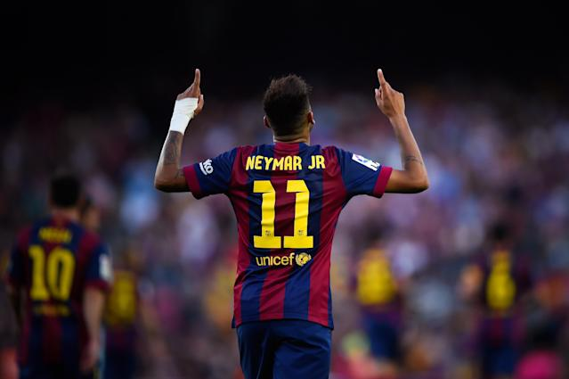 Neymar bids farewell to Barcelona, where he's played since 2013 and won the Champions League and two La Liga titles. (Getty)