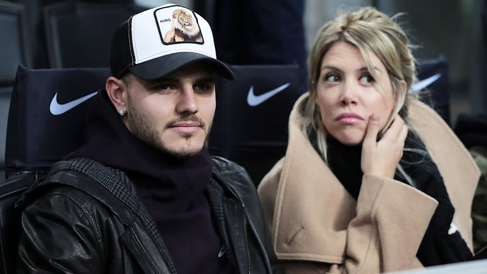 Mauro and Wanda Icardi, pictured here during a Serie A match