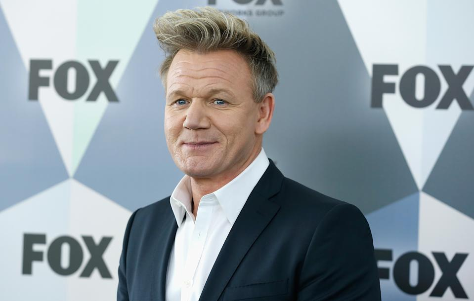NEW YORK, NY - MAY 14:  Gordon Ramsay attends 2018 Fox Network Upfront at Wollman Rink, Central Park on May 14, 2018 in New York City.  (Photo by John Lamparski/WireImage)