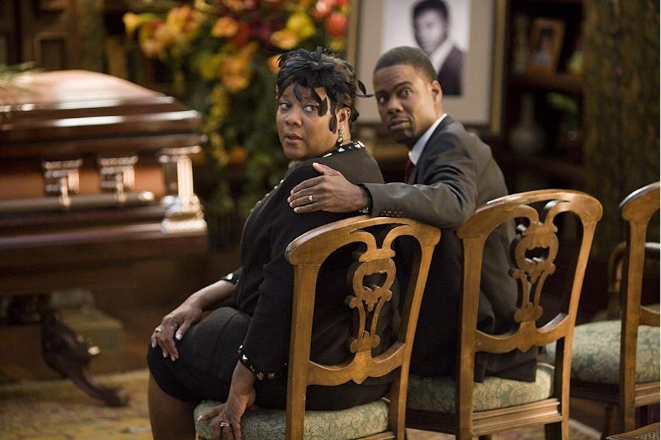 """<p>While attending a funeral isn't usually a funny affair, Chris Rock and Martin Lawrence manage to make <em>Death at a Funeral</em> a must watch. And if Rock and Lawrence aren't enough for you, the ensemble cast also includes Danny Glover, Regina Hall, Peter Dinklage, James Marsden, Tracy Morgan, Loretta Devine, Zoë Saldaña, Columbus Short, Luke Wilson, and Kevin Hart. Whew.</p><p><a class=""""link rapid-noclick-resp"""" href=""""https://www.netflix.com/title/70118780"""" rel=""""nofollow noopener"""" target=""""_blank"""" data-ylk=""""slk:Stream it here"""">Stream it here</a></p>"""