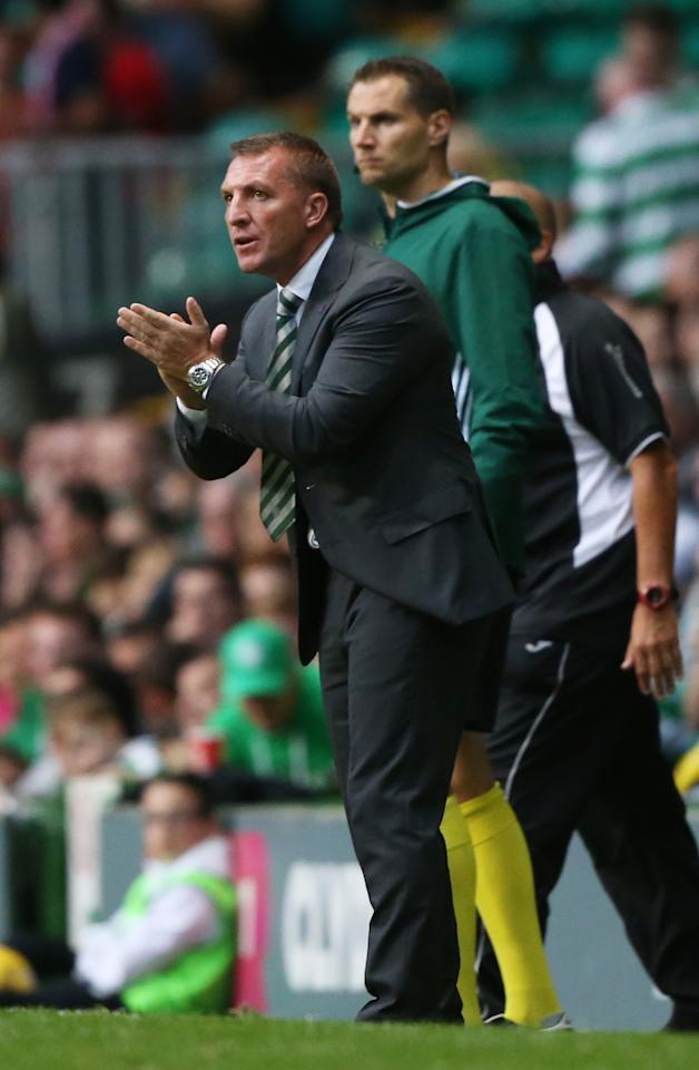 Britain Football Soccer - Celtic v Lincoln Red Imps - UEFA Champions League Second Qualifying Round Second Leg - Celtic Park - 20/7/16 Celtic manager Brendan Rodgers  Action Images via Reuters / Russell Cheyne Livepic