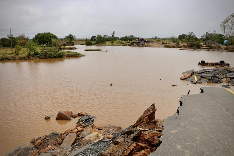 Roads linking Beira to the outside world have been been swamped or destroyed (AFP Photo/ADRIEN BARBIER)