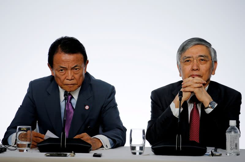 Japan's finmin, central bank governor vow to use all tools to combat virus fallout