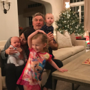 """<p>Hilaria and Alec Baldwin did their best to take the perfect family photo on Christmas Eve, but it's kind of hard with their three little ones — Carmen, 3; Rafael, 18 months; and 3-month-old Leonardo! """"Wishing you all a very merry Christmas Eve, Happy Chanukah, feliz noche buena….and every other wonderful wish,"""" wrote Hilaria. (Photo: <a rel=""""nofollow noopener"""" href=""""https://www.instagram.com/p/BObF2JoBBVh/"""" target=""""_blank"""" data-ylk=""""slk:Instagram"""" class=""""link rapid-noclick-resp"""">Instagram</a>) </p>"""