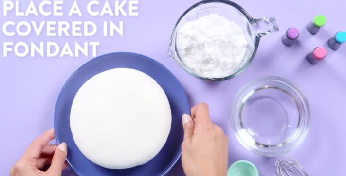 How to make tie dye frosting with food coloring