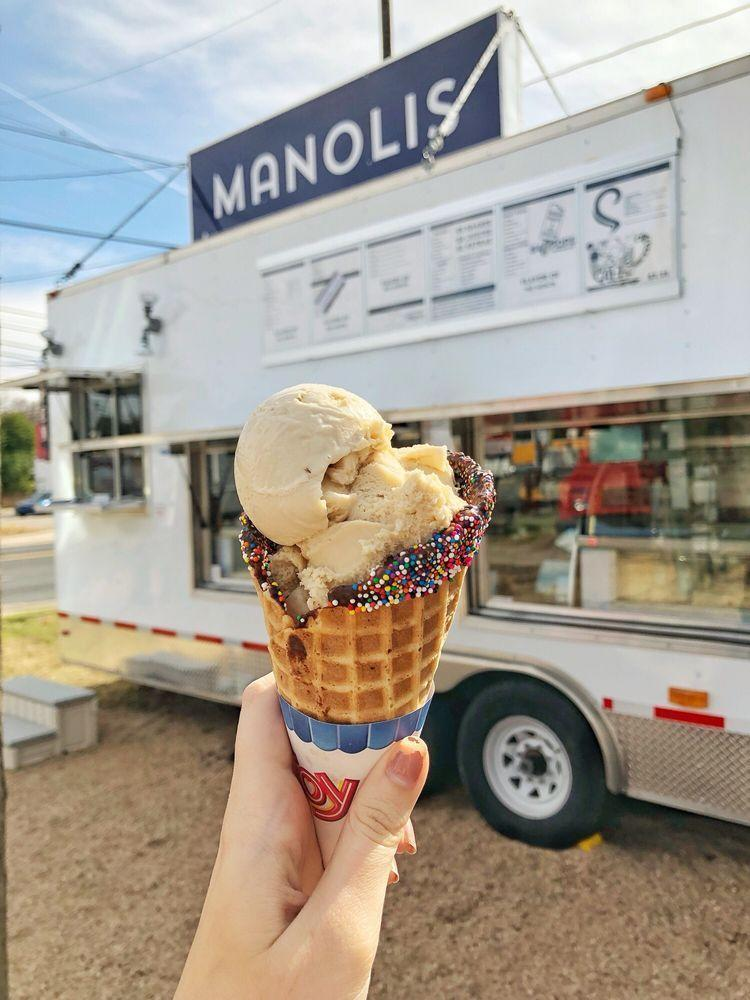 """<p><strong><a href=""""https://www.yelp.com/biz/manolis-ice-cream-pastries-and-cakes-austin"""" rel=""""nofollow noopener"""" target=""""_blank"""" data-ylk=""""slk:Manolis Ice Cream, Pastries, & Cakes"""" class=""""link rapid-noclick-resp"""">Manolis Ice Cream, Pastries, & Cakes</a>, Austin<br></strong></p><p>""""This place is the best. They let you try any and all the flavors you want and they do it with a huge smile on their face. They remember their customers and what they like which is amazing for how many customers they have. They are so nice and their flavors are unique and refreshing."""" – Yelp user <a href=""""https://www.yelp.com/user_details?userid=TboESVkkwIRdARP3pD6jAQ"""" rel=""""nofollow noopener"""" target=""""_blank"""" data-ylk=""""slk:Garet F."""" class=""""link rapid-noclick-resp"""">Garet F.</a></p><p>Photo: Yelp/<a href=""""https://www.yelp.com/user_details?userid=KC3fpRBNGnYBR65O8wPhIQ"""" rel=""""nofollow noopener"""" target=""""_blank"""" data-ylk=""""slk:Rachael D."""" class=""""link rapid-noclick-resp"""">Rachael D.</a></p>"""