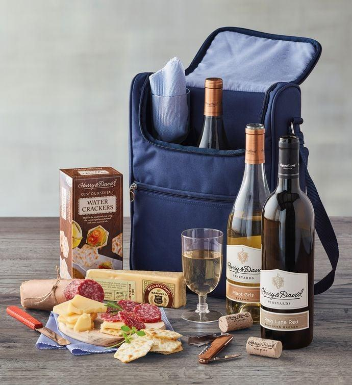 <p>This <span>Wine and Cheese Picnic Gift Set</span> ($100) is such a special gift.</p>