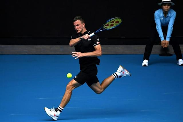 Hugary's Marton Fucsovics was bundled out in the second round at Melbourne Park last year (AFP Photo/Manan VATSYAYANA)