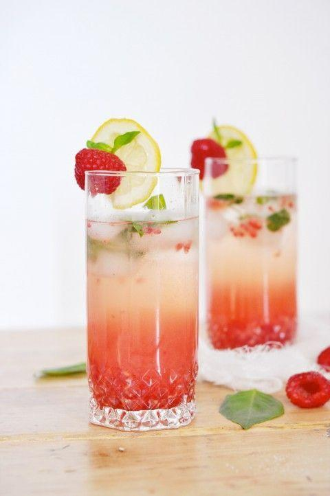 """<p>Muddled basil, raspberry, limoncello, and champagne combine in this refreshing summer cocktail.</p><p>Get the recipe from <a href=""""http://www.jacquelynclark.com/2013/07/04/raspberry-basil-champagne-cocktail/"""" rel=""""nofollow noopener"""" target=""""_blank"""" data-ylk=""""slk:Lark & Linen"""" class=""""link rapid-noclick-resp"""">Lark & Linen</a>.</p>"""