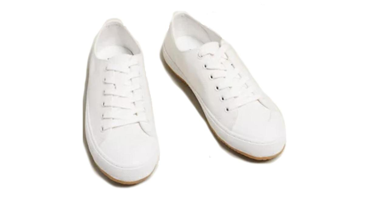 Lace Up Canvas Trainers