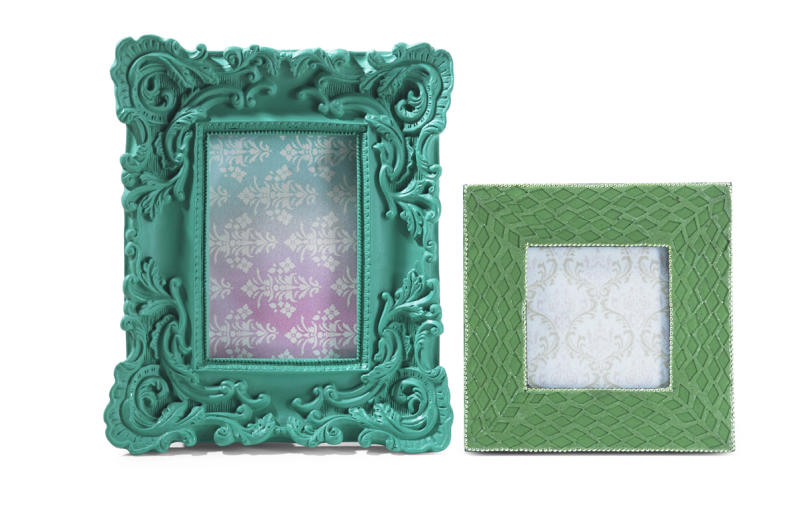 This undated publicity image provided by HomeGoods shows emerald picture frames. Small accessories like picture frames introduce new colors without a major commitment (www.homegoods.com). (AP Photo/HomeGoods)