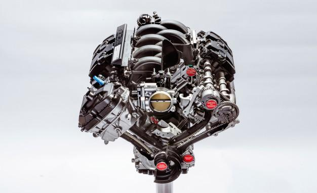 The 5.2L 'Voodoo' V8 engine (Credit: Ford)