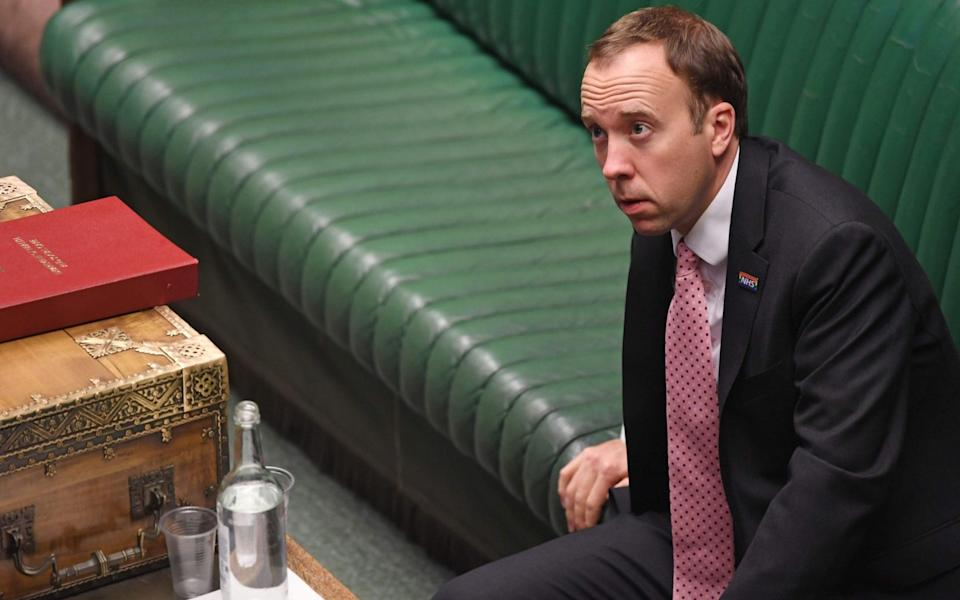 Matt Hancock has warned that the health service could 'implode' - Jessica Taylor/AFP