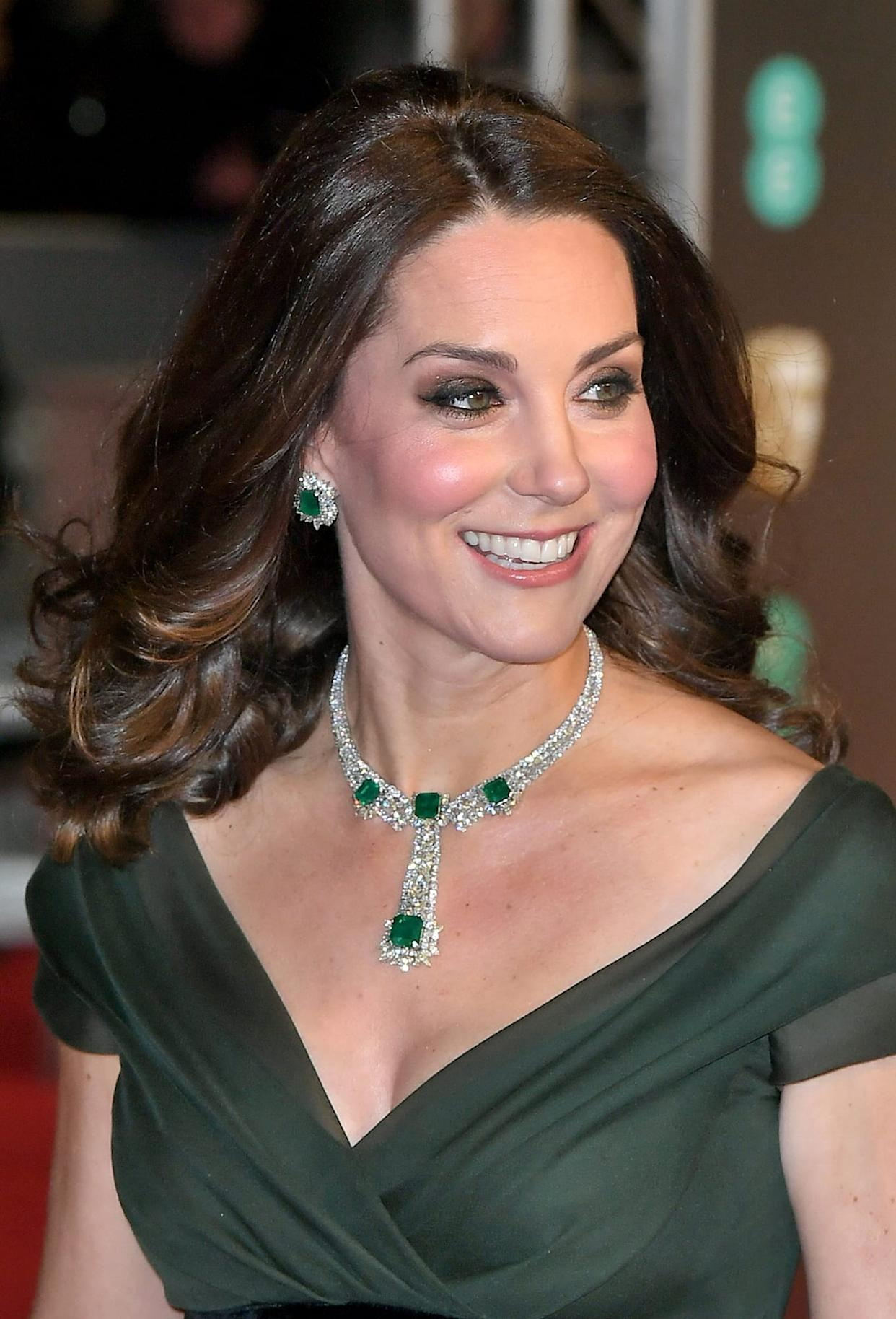 Duchess of Cambridge Kate Middleton BAFTA Awards jewelry