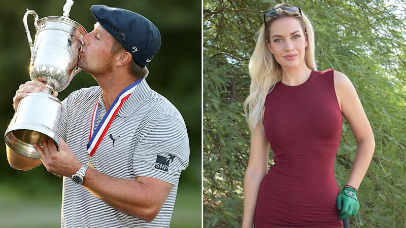 Pictured here is 2020 US Open champion Bryson DeChambeau and Instagram sensation Paige Spiranac.