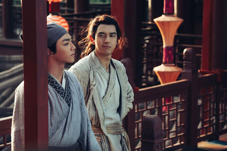 Scholar Wang Zijin (Chen Li-nung) and fox demon Bai Shisan (Li Xian) in Soul Snatcher.