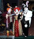 <p>Cosplayers dressed as Mad Hatter, Red Queen, and White Rabbit at Comic-Con International on July 20, 2018, in San Diego. (Photo: Phillip Faraone/Getty Images) </p>