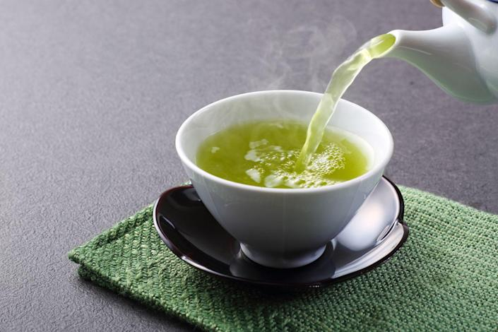 "<p>Tea consumption is tied to a lower risk of colon, breast, <a href=""https://www.prevention.com/health/g20492385/signs-of-ovarian-cancer/"" rel=""nofollow noopener"" target=""_blank"" data-ylk=""slk:ovarian"" class=""link rapid-noclick-resp"">ovarian</a>, prostate, and <a href=""https://www.prevention.com/health/health-conditions/a25350185/lung-cancer-facts/"" rel=""nofollow noopener"" target=""_blank"" data-ylk=""slk:lung cancer"" class=""link rapid-noclick-resp"">lung cancer</a>, says the <a href=""https://www.cancer.gov/about-cancer/causes-prevention/risk/diet/tea-fact-sheet"" rel=""nofollow noopener"" target=""_blank"" data-ylk=""slk:NCI"" class=""link rapid-noclick-resp"">NCI</a>. And <a href=""https://www.prevention.com/weight-loss/a29802150/green-tea-weight-loss/"" rel=""nofollow noopener"" target=""_blank"" data-ylk=""slk:green tea"" class=""link rapid-noclick-resp"">green tea</a> is thought to pack an extra powerful punch. It's loaded with polyphenols like epigallocatechin gallate and epicatechin gallate, which help protect cells from cancer-causing damage by neutralizing free radicals. ""EGCG may also inhibit the growth of blood vessels that feed cancerous cells,"" Dr. Mandal notes.</p><p><strong>Try it: </strong><a href=""https://www.prevention.com/food-nutrition/recipes/a20521415/green-tea-blueberry-and-banana-smoothie-0/"" rel=""nofollow noopener"" target=""_blank"" data-ylk=""slk:Green Tea, Blueberry, and Banana Smoothie"" class=""link rapid-noclick-resp"">Green Tea, Blueberry, and Banana Smoothie</a></p>"