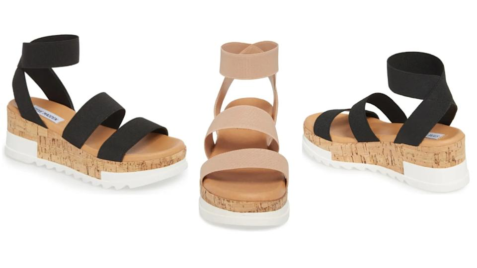 Get the Steve Madden Bandi Platform Wedge Sandal on sale now for $50.