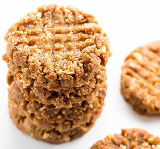 """<p>A 4-ingredient cookie that won't break your diet—where do we sign up!?</p><p>Get the recipe from <a href=""""https://www.wholesomeyum.com/recipes/sugar-free-low-carb-peanut-butter-cookies-recipe-4-ingredients/"""" rel=""""nofollow noopener"""" target=""""_blank"""" data-ylk=""""slk:Wholesome Yum"""" class=""""link rapid-noclick-resp"""">Wholesome Yum</a>.</p>"""