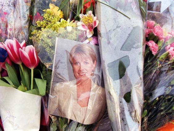 Floral tributes left near Jill Dando's home after her murder (Fiona Hanson/PA Archive/PA Images)