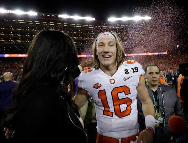 Could the NFL install a draft lottery before Clemson's Trevor Lawrence is eligible in 2021? (AP Photo)