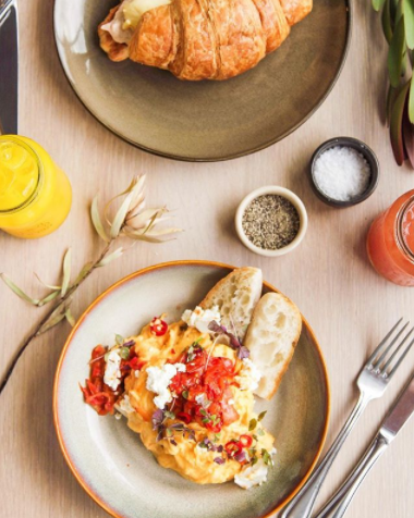 The chilli scrambled eggs are a menu highlight. Photo: Left of Field Instagram