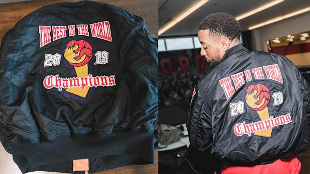 Drake gifted the Raptors with custom jackets. (Twitter/Raptors)