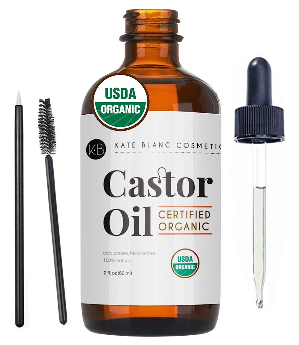 """<h3><a href=""""https://amzn.to/32kwoEy"""" rel=""""nofollow noopener"""" target=""""_blank"""" data-ylk=""""slk:100% Pure Castor Oil Kit"""" class=""""link rapid-noclick-resp"""">100% Pure Castor Oil Kit</a></h3><br><strong>Bree</strong><br><br><strong>How She Discovered It:</strong> """"I had been complaining about my naturally short lashes to one of my friends and she recommended castor oil as the best natural strengthening and growth serum. I was searching for a 100% organic option and this one popped up with over 18,000 rave reviews. I hit purchase right away once I saw that it included a lash spool and a tiny brush for eyebrows!""""<br><br><strong>Why It's A Hidden Gem:</strong> """"I was skeptical, but I've been using this product daily for just a month and already see a huge difference in the length and volume of my eyelashes. I can't wait to try it on my eyebrows next.""""<br><br><br><strong>Kate Blanc Cosmetics</strong> Certified Organic 100% Pure Castor Oil Kit, $, available at <a href=""""https://amzn.to/32kwoEy"""" rel=""""nofollow noopener"""" target=""""_blank"""" data-ylk=""""slk:Amazon"""" class=""""link rapid-noclick-resp"""">Amazon</a>"""
