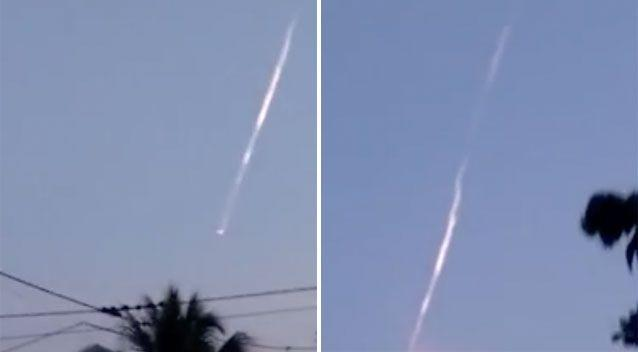 A strange object caused a stir in Peruvian skies on Saturday. Source: YouTube