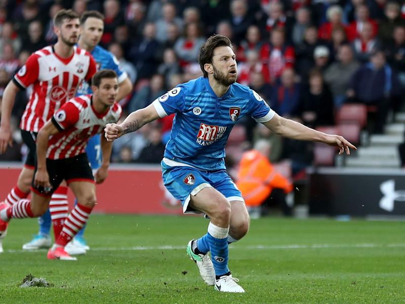 Arter skied a late spot-kick, the third that Bournemouth have missed in succession: Getty