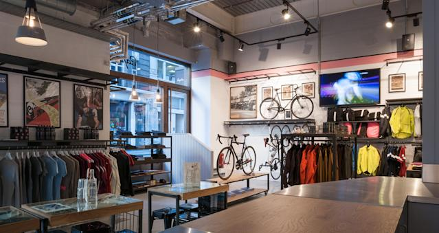 "The inside of a Rapha ""cycle club."" Source: Rapha"