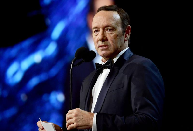 Kevin Spacey didn't escape Seth's comedy stylings. Source: Getty