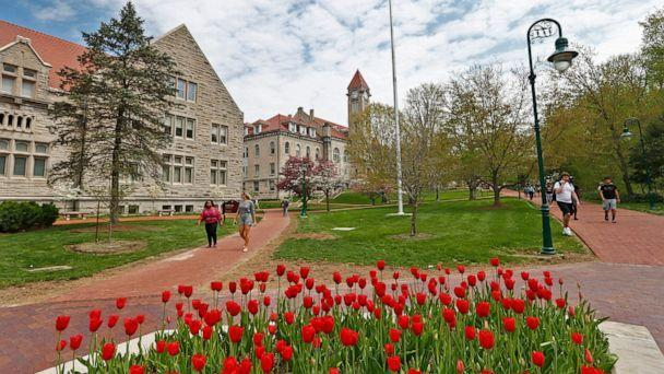 PHOTO: Flowers bloom on the campus of Indiana University in Bloomington, Ind., April 23, 2019. (Kelly Wilkinson/IndyStar via Imagn Content Services, FILE)