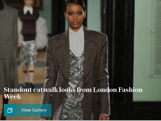 Standout catwalk looks from London Fashion Week