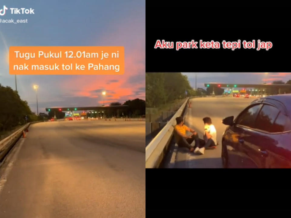 TikTok user Muhd Fareast shared a video of him and his friends waiting for interstate travel to be allowed. — Screenshot via TikTok/ Muhd Fareast