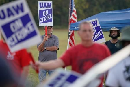 UAW workers strike at the Bowling Green facility