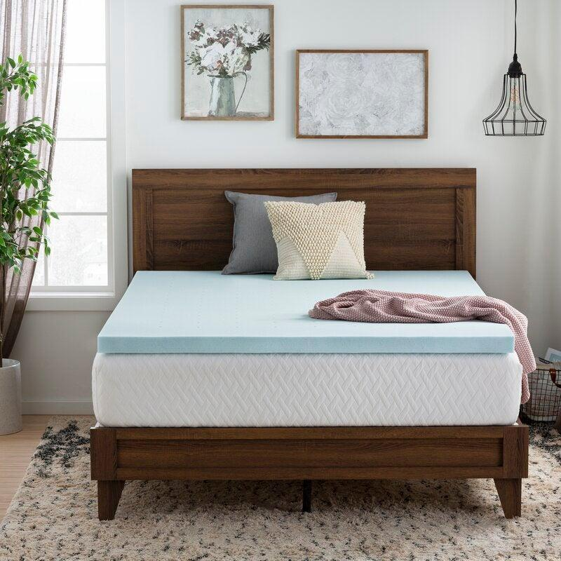 """<h2>55% Off Brookside Gel Memory Foam Mattress Topper</h2><br><br>""""I also cheated on Amazon with a counter-sale find at Wayfair for this Gel Memory Foam Mattress Topper, because I decided I'm not a stunted JUULpod skater boy and finally need a real bed, but I digress.""""<br><br><em>— Mary Frances Knapp, Sexual Wellness Contributor</em><br><br><strong>Brookside</strong> 2.5"""" Gel Memory Foam Mattress Topper, $, available at <a href=""""https://go.skimresources.com/?id=30283X879131&url=https%3A%2F%2Ffave.co%2F3do9uQU"""" rel=""""nofollow noopener"""" target=""""_blank"""" data-ylk=""""slk:Wayfair"""" class=""""link rapid-noclick-resp"""">Wayfair</a>"""