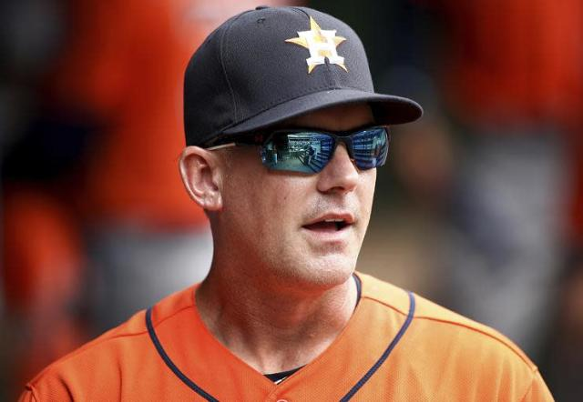 Astros manager A.J. Hinch offered some powerful words in wake of the Santa Fe High School shooting.(AP)