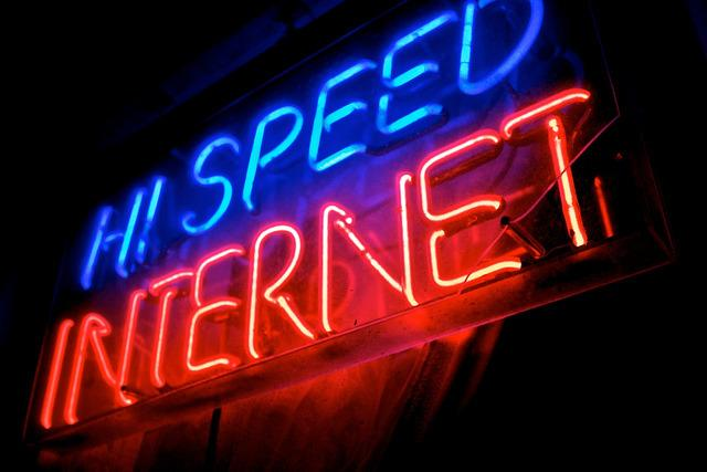 High-speed internet sign