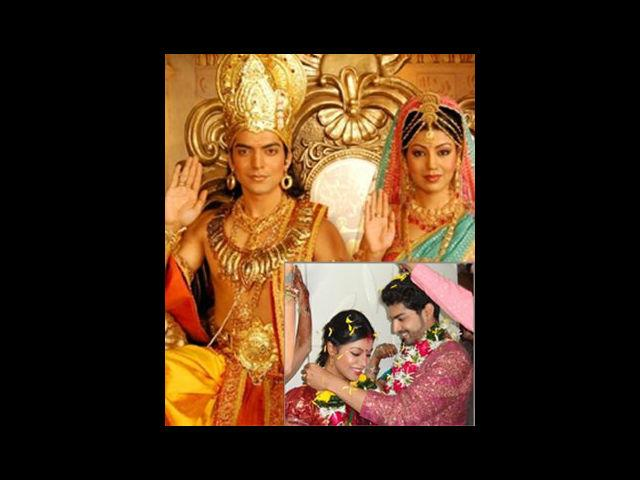 <b>2. Gurmeet-Debina</b><br>Debina and Gurmeet look like they are made for each other. The muscular Punjabi hunk swept the delicate Bengali girl off her feet when they played characters of Ram and Sita in NDTV Imagine's Ramayan. After the show, they participated in a reality show named Pati, Patni aur Woh, where they had to live like a married couple and take care of kids, parents and the elderly. No wonder! The good looking couple married soon after the show.