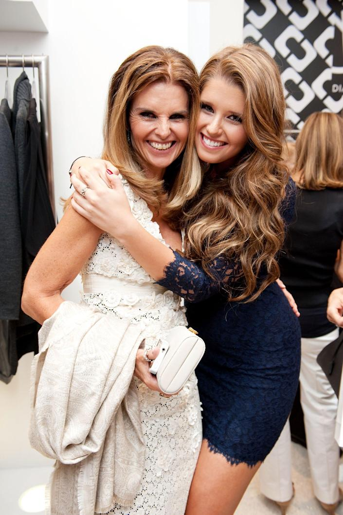 Maria Shriver with her daughter, Katherine Schwarzenegger, at an event for Fashion's Night Out on Sept. 8, 2011.