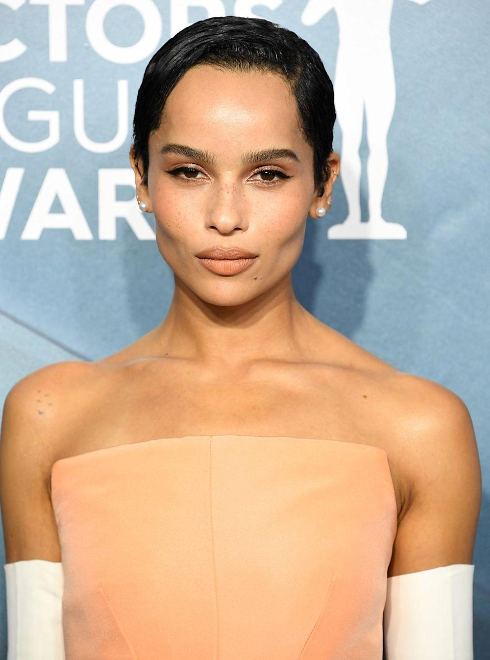 <p>The Audrey Hepburn-esque super short crop of our dreams, we love every 'do Zoe Kravitz rocks, but this one is at the top of our 'take to hairdresser' inspo list.</p>